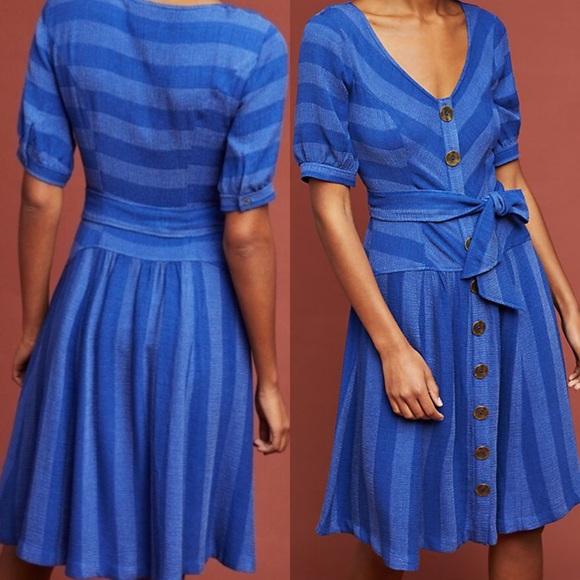 cd615f648317 Anthropologie Dresses | Nwt Maeve Tonal Stripe Dress Size 8 | Poshmark